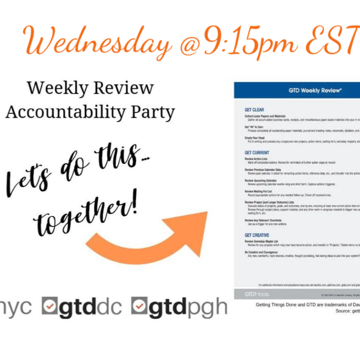 Weekly Review Accountability Party (WRAP) Wednesday Night Edition #7 (01-08-2020)