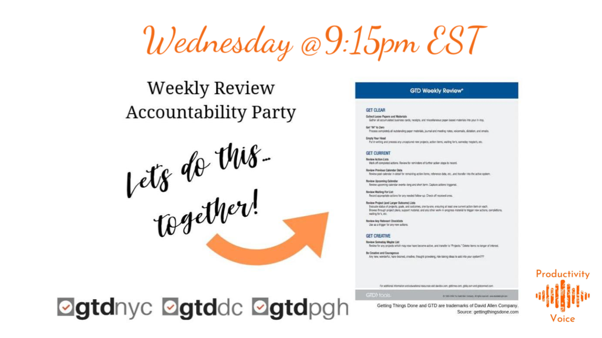 Weekly Review Accountability Party (WRAP) Wednesday Night Edition #2 (11-20-2019)